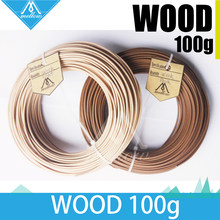 100g 3D Filament de bois d'imprimante 1.75 MM Filament 100g ABS PLA PA PVA hanches pour MakerBot Flash Forge(China)
