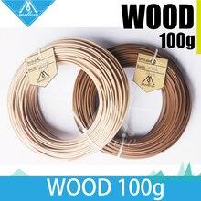100g 3d impressora filamento de madeira 1.75mm, filamento 100g abs pla pa pva quadril para makerbot flash forge