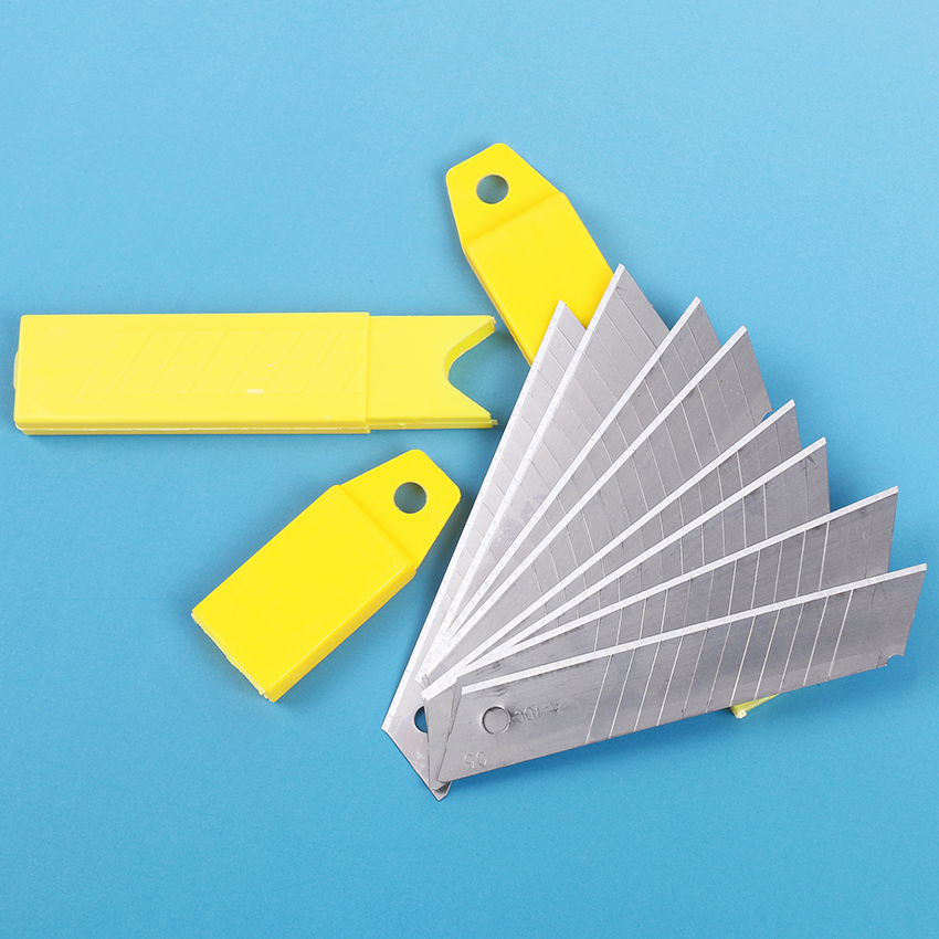 10PCS/lot High Quality Blade Knife Portable 0.6MM Thickness Steel Utility Knife DIY Durable Art Cutter 10CM X 1.8CM
