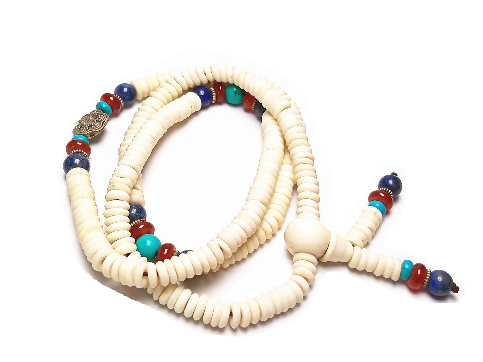 Koraba Vintage Silver Natural Bovine Bone Elastic Bracelet  Boho JewelryKoraba Vintage Silver Natural Bovine Bone Elastic Bracelet  Boho Jewelry