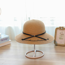 2019 spring new beach hat womens outdoor sun protection travel vacation with rings  straw Bucket Hats
