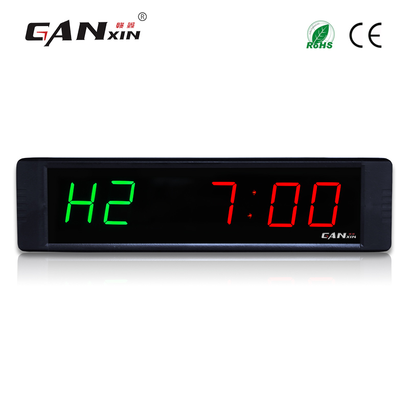 Ganxin 1 multifunction Digital countdown Clock 6 Digits Crossfit Timer LED gym Timer Stopwatch electronic