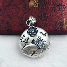 The ancient Thai S990 fine silver silver pendant pendant lotus lotus flower longevity sweater factory direct