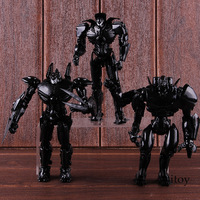 NECA Pacific Rim Toys Jager End Titles Black Variant PVC Pacific Rim Figure Action Collectible Model Toy 3 pack