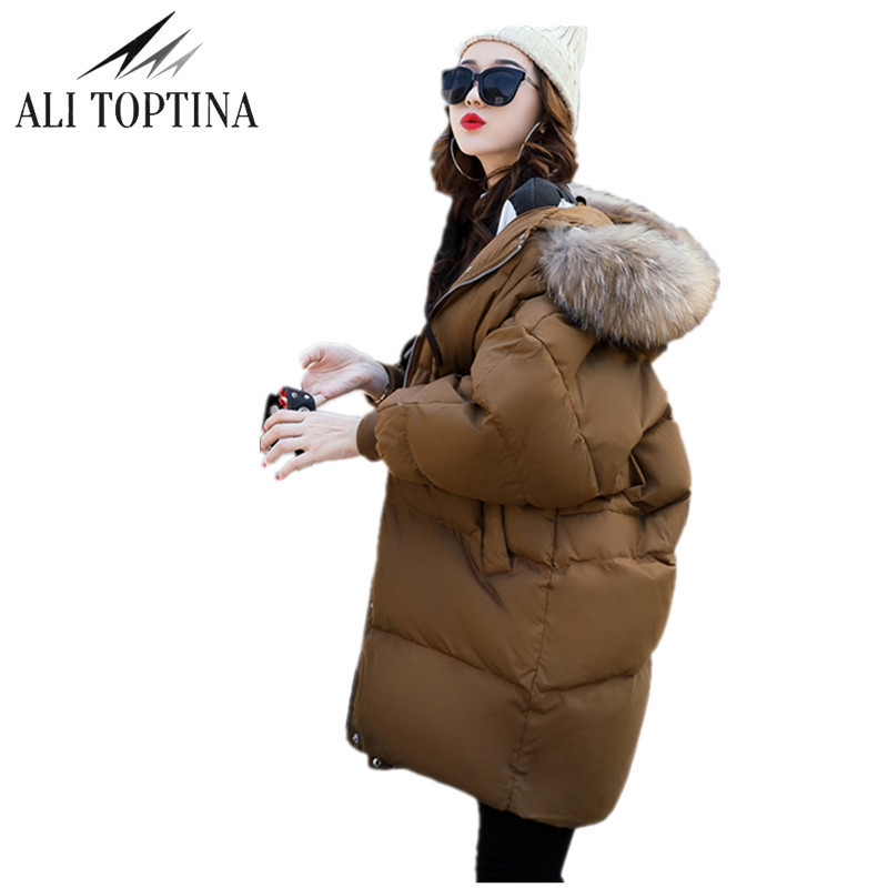 Thick 2018 Winter Jacket Coat Women Fur Collar Down Parka Coat Plus Size Long Warm Hooded Snow Wear Wadded Padded Jacket snow wear 2017 winter jacket women warm thick long hooded cotton padded parkas causal female big faux fur collar jacket coat