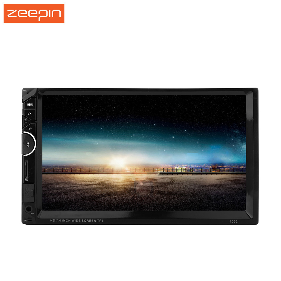 7002 Double 2Din In-dash DVD Player,7Inch 1080P 800*480 RDS FM AUX USB HD MP5 Video Stereo Autoradio Head Unit Support Rear View