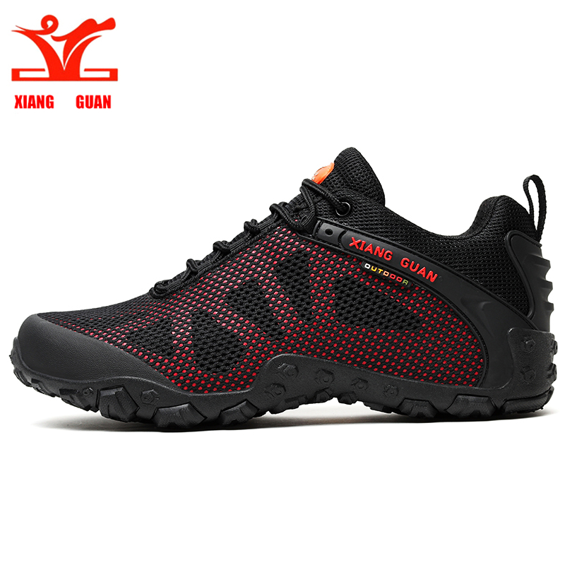 XIANG GUAN men hiking shoes woman trekking hike sneaker outdoor climbing hunting mesh breathable antiskid comfortable цена и фото