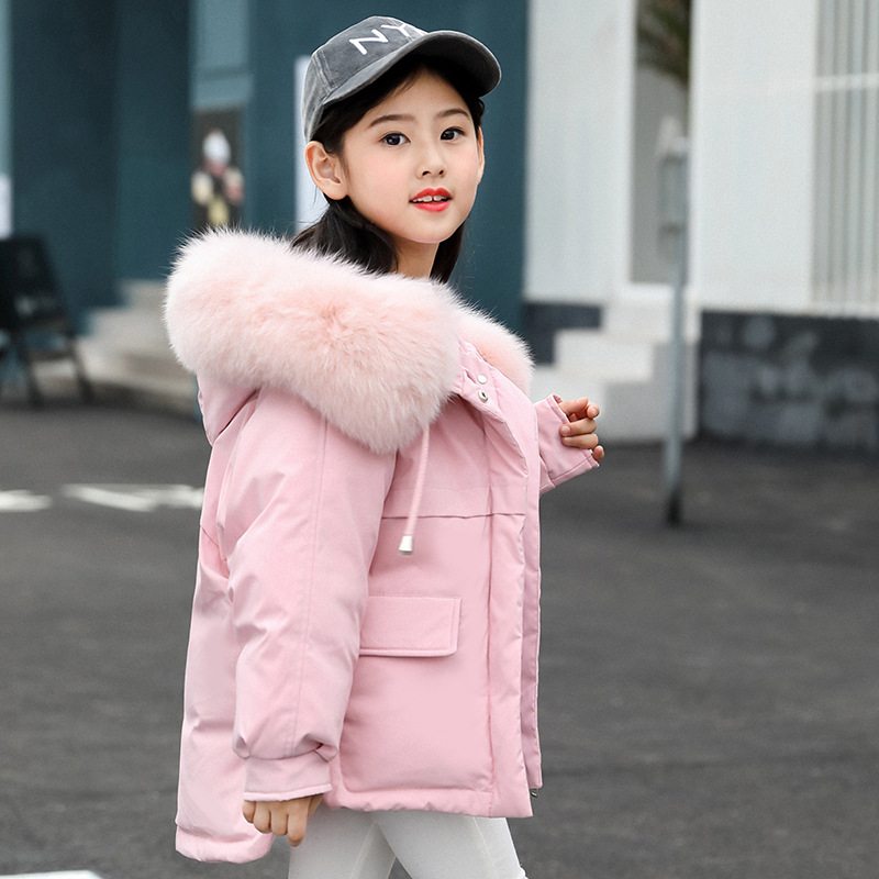 2018 Girls Winter Coat Thick Children Cotton Hooded Jacket Kids Parkas Warm Wear Fashion Winter Coats for 4-11Y Outwear недорго, оригинальная цена