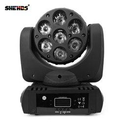 Wysokiej jakości wiązki światła LED 7x12 W/12x12 W/36x3 W RGBW ruchome głowy DMX512 oświetlenie sceniczne efekt dobre dla DJ Disco Party i klub nocny w Oświetlenie sceniczne od Lampy i oświetlenie na