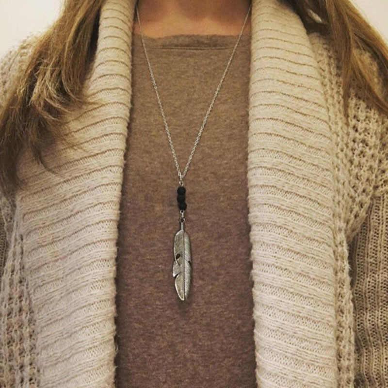 Accesorios de moda aleación grande flecha colgante elegante moda collar largo suéter cadena