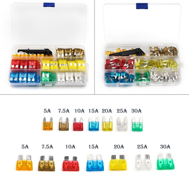 US $982242PCS Fuse Blade Holder Box Car Vehicle Circuit Fuse Box Block 7  Colors Fuse Medium/Small Size 5A/75A/10A/15A/20A/25A/30A -in Fuses from