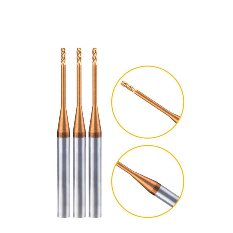 0,6 мм 0,7 мм 1 мм 1,5 мм 2 мм 3 мм 0,8 мм 4 мм HRC60 4 флейты CNC Карбид с длинным горлом плоские концевые фрезы Вольфрамовая сталь концевые фрезы
