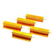 RX24 100W 전력 와트 금속 알루미늄 Resistance0.1R 0.2R 0.5R 1R 2R 3R 4R 5R 8R 10R 20R 50R 100R 200R 500R 저항