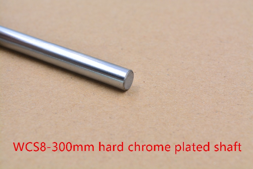 3D printer rod shaft WCS 8mm linear shaft length 300mm chrome plated linear guide rail round rod shaft 1pcs 2pcs lot 8mm linear shaft 800mm 8mm linear shaft length 800mm chrome plated linear guide rail round rod shaf