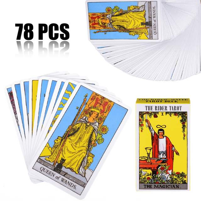 78pcs/set Especially Rider Waite Tarot Deck Beginners Gift English Version  Games Cards 103*60mm Poker Playing Card Paper