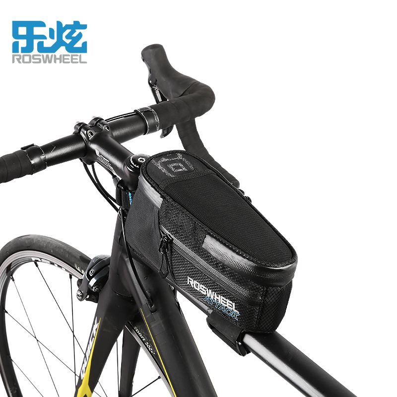 ROSWHEEL bicycle top tube bag bike <font><b>accessories</b></font> mtb bycicle cycling bags for <font><b>smartphone</b></font> full waterproof ATTACK series