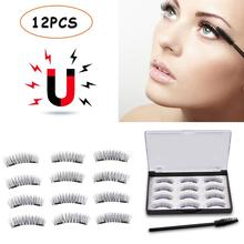3D Double Magnet False Eyelashes 6-pair No Glue Trace Pure Manual for Women