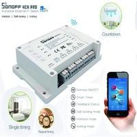 ITEAD Sonoff 4CH Pro 4 Gang Inching Self Locking Interlock WiFi RF Smart Switch For Smart