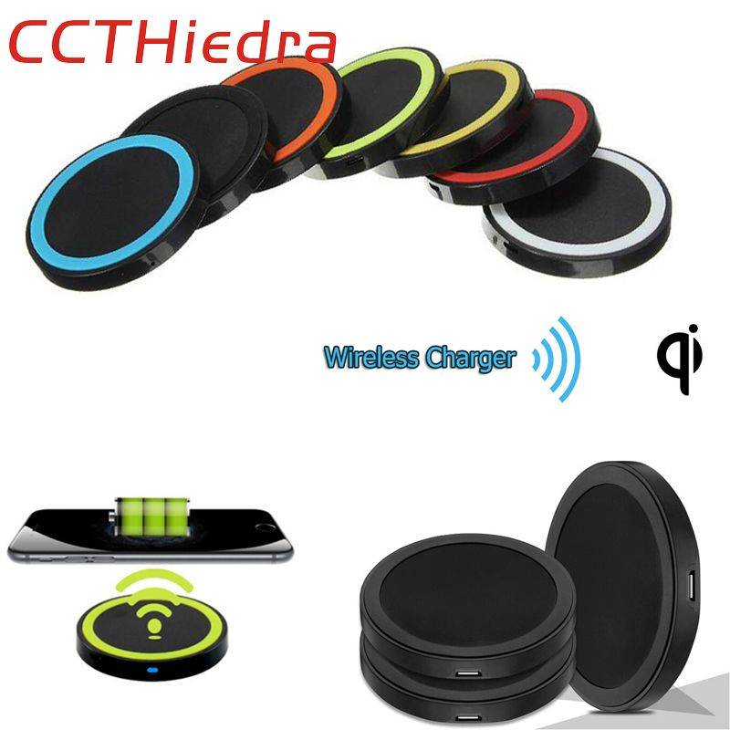 CCTHiedra Brand Mini Qi Wireless Charger USB Charging Pad for iPhone 5 6 7 ..