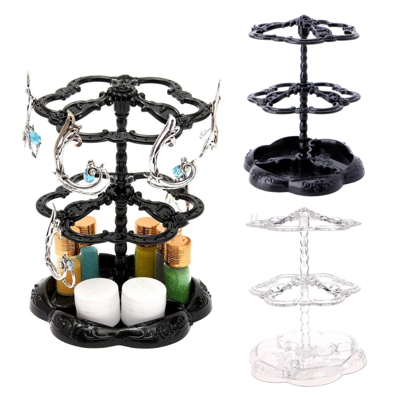 Retro Rotating Eardrop Earring Jewelry Display Hanging Holder Stand Organizer