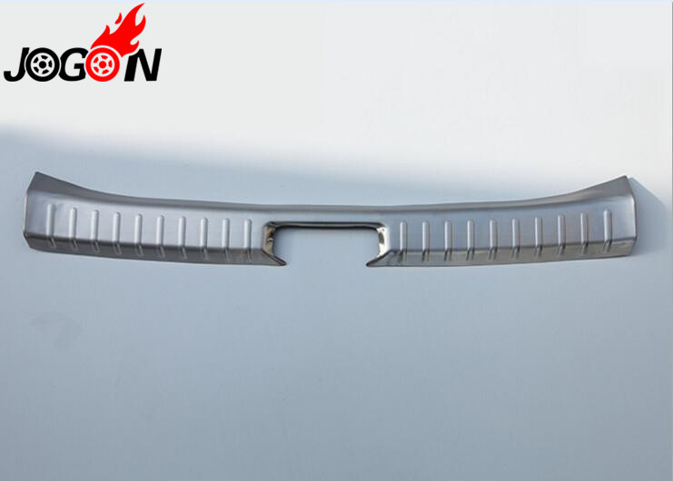 For Toyota HILUX SW4 Fortuner 2016 2017 2018 Stainless Steel Rear Bumper Protector Tailgate Cover Door Sill Plate Trim