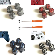 Custom For Xbox One Slim Elite Controller ABXY button Kit Bullet Buttons Repair Parts Mod Kit Replacement W/ T8 T6 Screw Driver