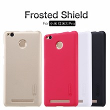 Nillkin Super Frosted Shield Case Cover For Xiaomi Redmi 3 Pro / Hongmi 3 Pro 5.0 Phone cases + screen protector + package