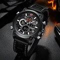 Спортивные часы для мужчин Топ Бренд роскошные мужские наручные часы кожа цифровые часы мужские часы Erkek Kol Saati Relojes Hombre 2019