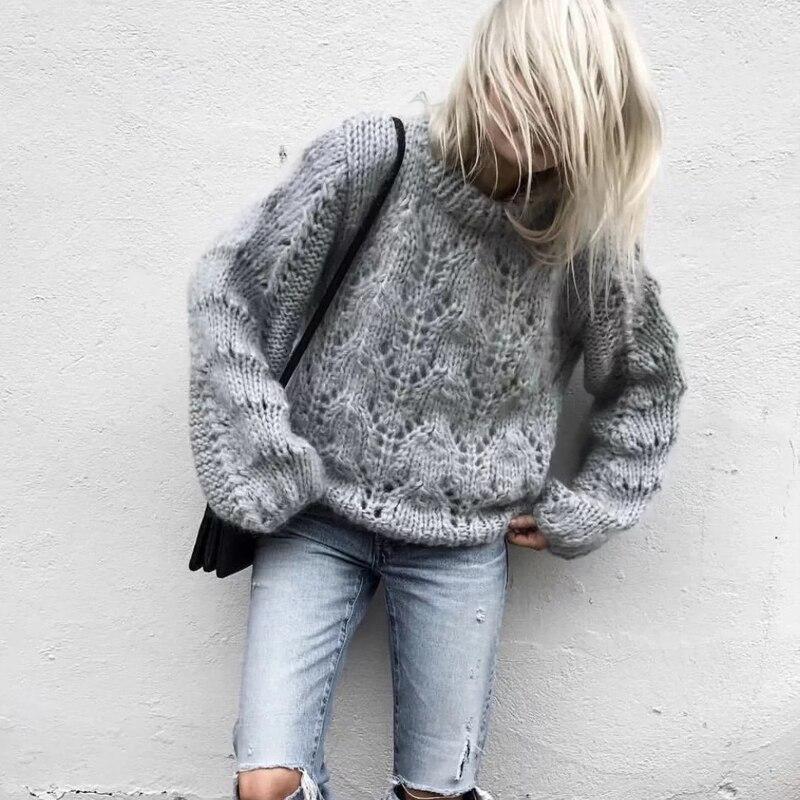 Осень Зима 2018 женский мохер свитер женский вязаный свитер и пуловеры Femme Корейская нижняя рубашка свитер женский топ