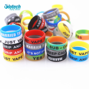 Glotech 100PCS Silicone rubber band ring Non Slip decorative vape band for electronic cigarette mechanical mods RDA vaporizer