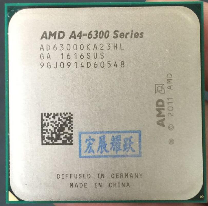 AMD A4-Series A4-6300  A4 6300  AMD 6300 Dual-Core CPU APU FM2 100% Working Properly Desktop Processor