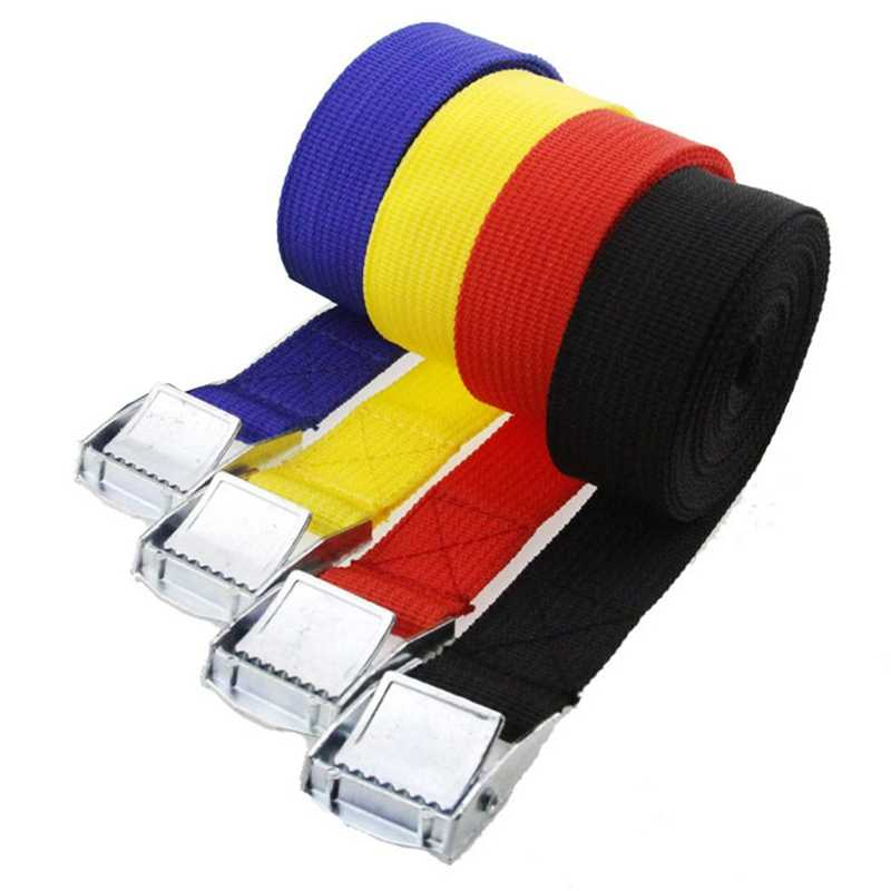 3 2 1 m m m m * 25 5mm Tension Rope Ratchet Tie Down Strap Forte Do Carro Cinto saco da bagagem de Amarração de Carga Com Fivela de Metal