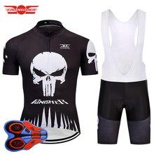 Crossrider 2020 preto dos homens camisa de ciclismo mtb bicicleta roupas secagem rápida conjunto curto ropa maillot culotte