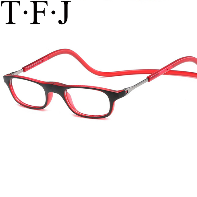 Magnetic Reading Glasses Unisex Old Man Lazy Glasses Bed Hanging Around Neck Eyeglasses Optics Adjustable Lunettes De Lecture