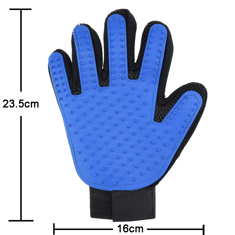 Five Fingers Pet Grooming Gloves for Cleaning and Removal of Dogs and Cats Hair Made of Rubber Useful for Animal Bathing 9