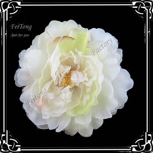 24 шт./лот 6 цветов на выбор 4 ''цветок пиона шелковая Цветочная Брошь, заколка для волос