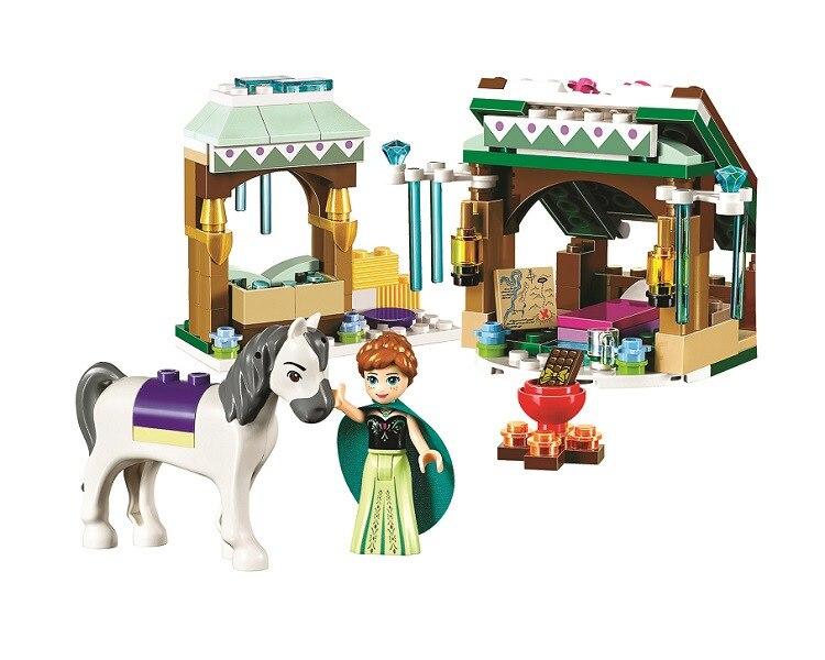 Бела 10661 зимние Приключения Анна лошадь Annas Snow Adventure рисунок Building Block кирпича игрушки 41147