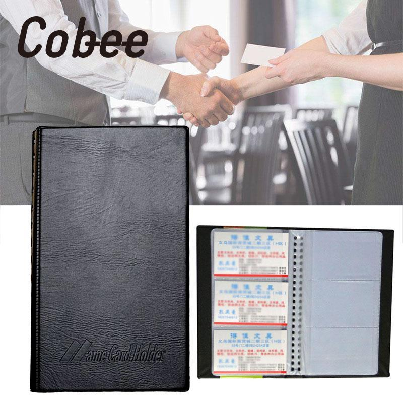 Cobee Transparent Business Name Card Holder Travel Book Credit Card Wallet Folder Organiser Leather Office School Supplies