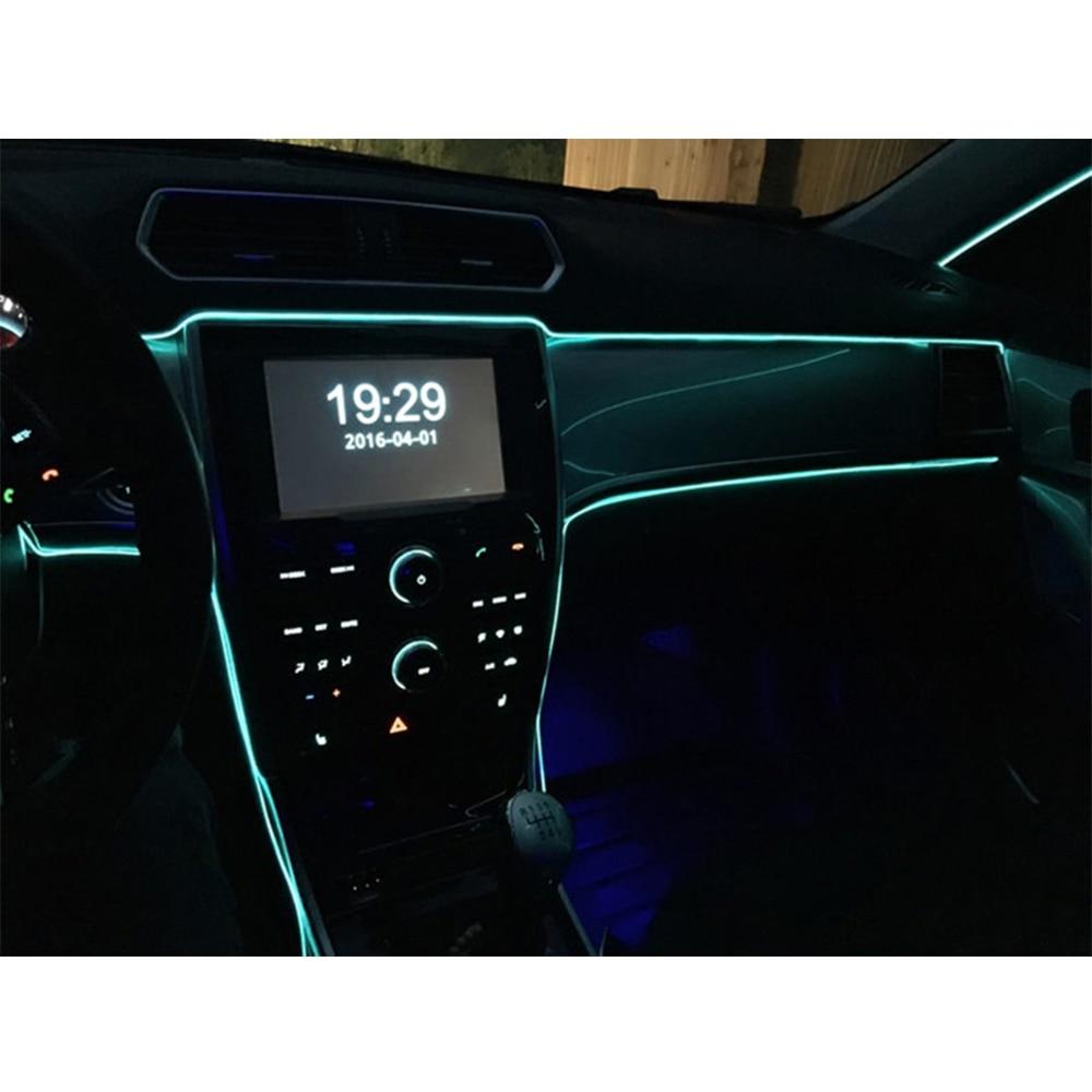 5M avtomobilska notranjost okrasno prelivanje prilagodljiv neonski - Dodatki za notranjost avtomobila - Fotografija 5