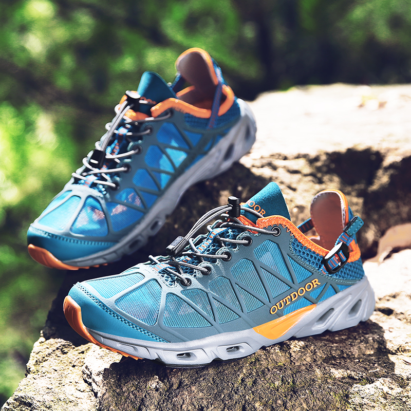 Lightweight Men Sandals Outdoor Shoes Mesh Breathable Sport Sandals Water Shoes Fishing Sneaker Women Hiking Sandals Aqua Shoes