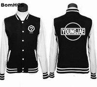 BomHCS GOT7 Uniform Bambam JB JR Mark Youngjae Jackson Baseball Sweatshirt