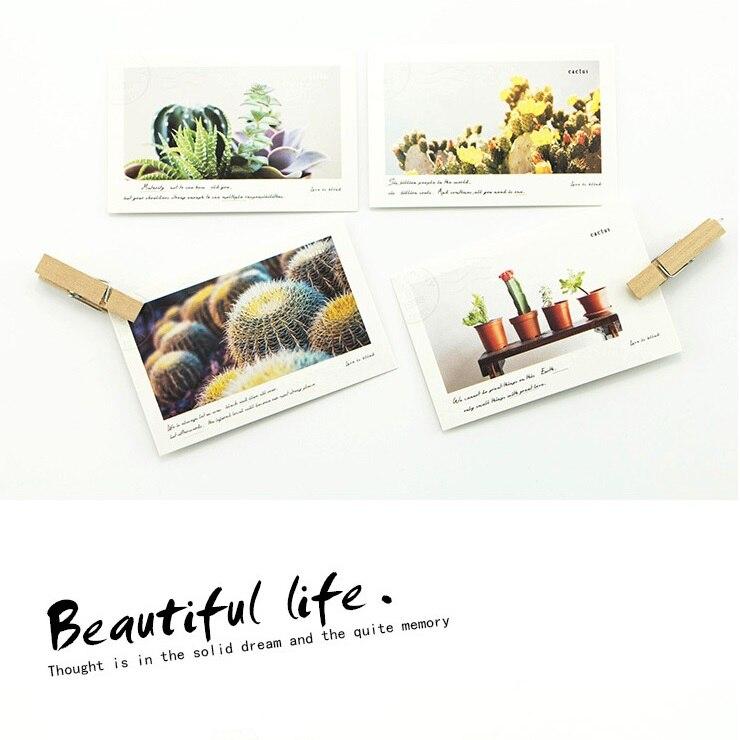 5.2*8cm 54pcs Mini Card cactus in Travel print Scrapbooking Craft Paper card DIY gift Decoration card message card