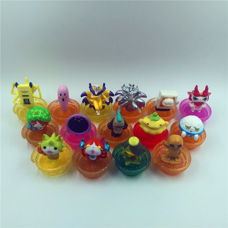 12 pcs/set yokai Watch Jibanyan Komasan and Whisper pvc Doll toys