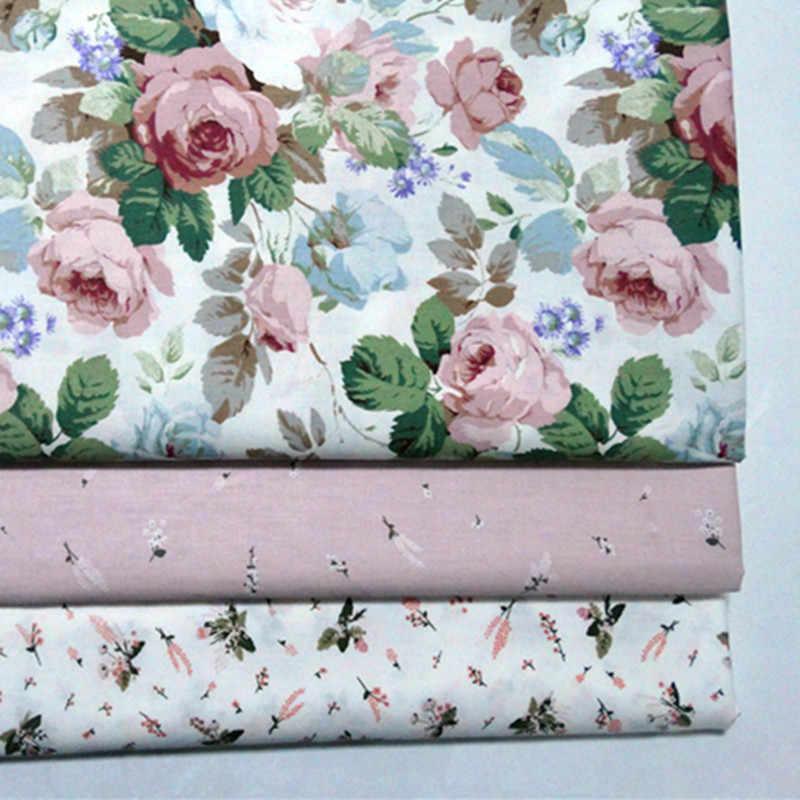 Impresso rosa bebê algodão estofando tecido diy costura estofamento scrapbooking tecido bordado material cortina pano