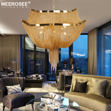 Aluminum Chain Tassel Chandelier Lighting Modern Hanging Light For Living Room Industrial lanterna Suspension Luminaire