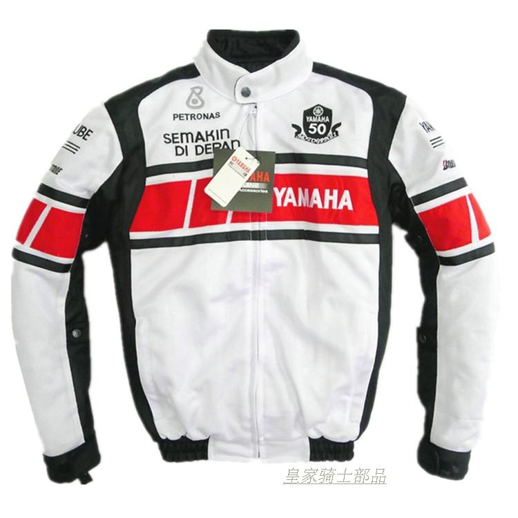 цена на MOTOGP Racing Team Commemorative Edition White Jacket For YAMAHA Motorcycle Keep Warm Jacket With Removable Cotton Liner