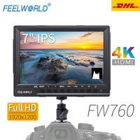 Feelworld FW760 Monitor 7 Inch IPS Full HD 1920x1200 4K HDMI Camera Monitor for DSLR Monitoring For Nikon Sony Canon Camera
