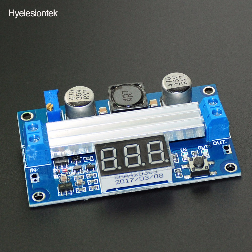 1 Unids Ltc1871 Mdulo Boost 35 V 100 W Con Pantalla Dual 100w Dc Step Up Power Module Intensificar Convertidor Elevador 3 35vdc A Led Voltmetro Voltaje Regulador