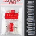 500pcs Transparent French Smile Clear Tips False Nail