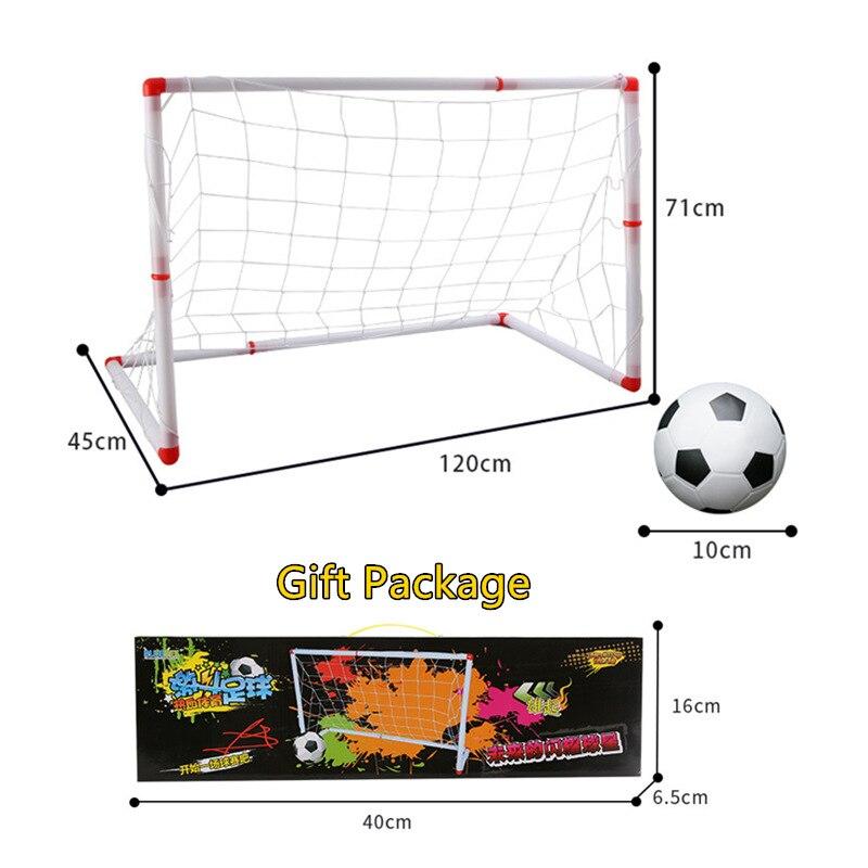 Portable DIY Soccer Football Goal Net+Ball Set Funny Indoor Outdoor Children Toys Ball Sports Birthday Gift 2018